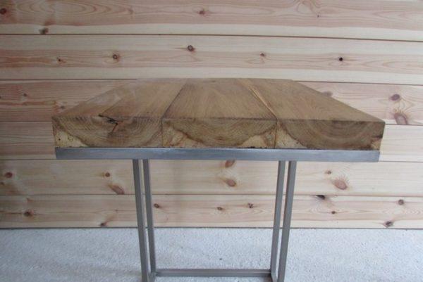 deco loft indusrielle bout de canapé metallique plateau chene realisation crea broc and co detail plateau