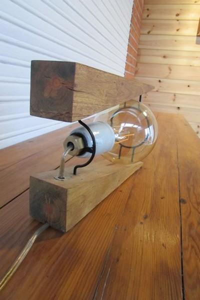 luminaire decoration creation crea broc and co bois et metal vue arriere
