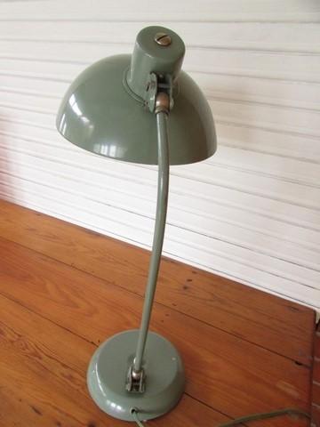 lampe de bureau annees 60 double articulation vue arrière