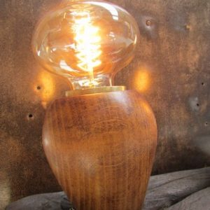 decoration luminaire style industriel lampe champignon creation Crea Broc and Co lampe allumee