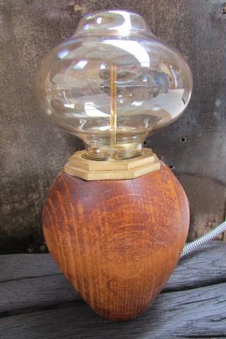 decoration industrielle lampe champignon creation Crea Broc and Co lampe eteinte