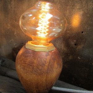 decoration industrielle lampe champignon creation Crea Broc and Co lampe allumee