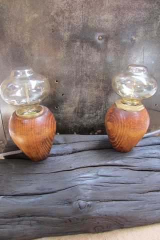 decoration industrielle lampes champignons creation Créa Broc and Co en binome lampes eteintes