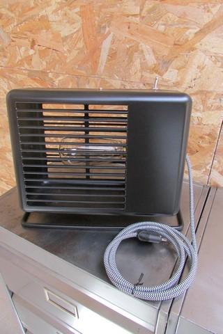 luminaire style industriel ancien chauffage electrique creation Crea Broc and Co vue de face lampe eteinte