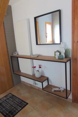 creation - meuble sur commande - console métal et bois -photo 1 -CREA BROC AND CO