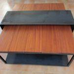 table basse métal et bois sur mesures