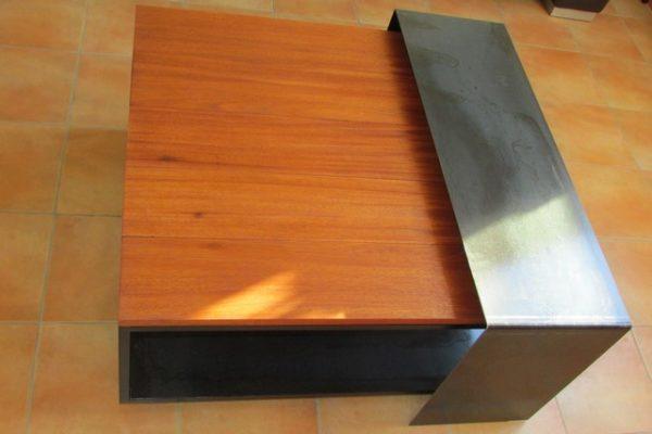 creation - meuble sur commande - table basse - photo 4 - CREA BROC AND CO